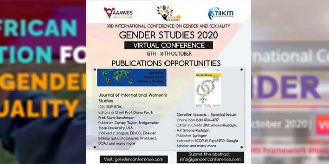 "publish your work in ""gender studies 2020"""