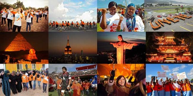 let's orange the world for 365 days